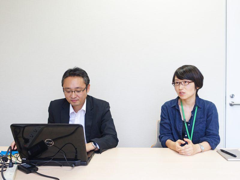 管理部の松本さん(左)と諸町さん(右)